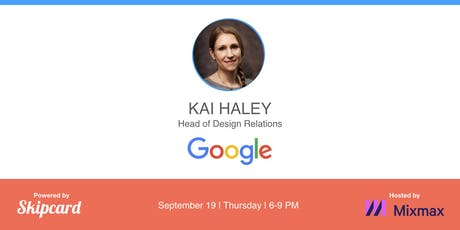 Keynote talk by Google Head of Design Relations tickets