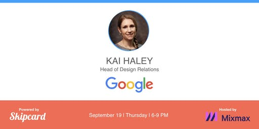 Keynote talk by Google Head of Design Relations