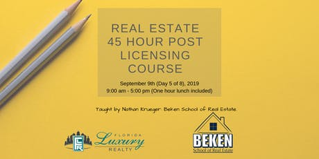 Real Estate 45 Hour Licensing Course Day 5 tickets