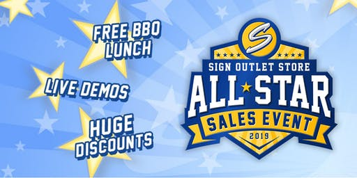 Sign Outlet Store's All Star Sales Event