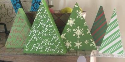Christmas Trees Chalk Night