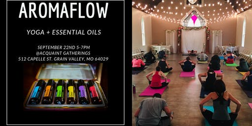 AromaFlow=Yoga + Essential Oils