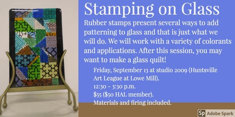 Stamping on Glass tickets