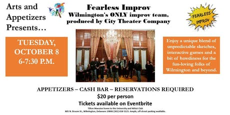 Arts and Appetizers Series - Fearless Improv Comedy Show tickets