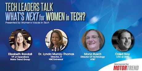 Tech Leaders Talk: What's Next for Women in Tech? tickets