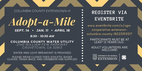 4-H Adopt-a-Mile Road Clean Up (Ages 12+/FREE) tickets