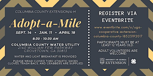 4-H Adopt-a-Mile Road Clean Up (Ages 12+/FREE)