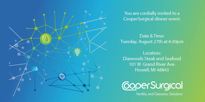PGTai 2.0 analysis and ERPeak test offerings from CooperSurgical (Gago Center for Fertility)