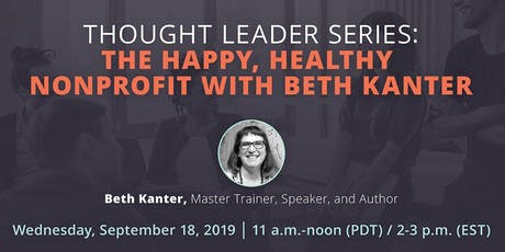 """""""The Happy, Healthy Nonprofit"""" Watch Party featuring Beth Kanter tickets"""