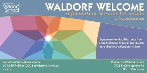Waldorf Welcome Information Session 2019-2020