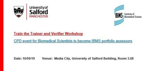 IBMS Train the Trainer and Verifier Workshop tickets