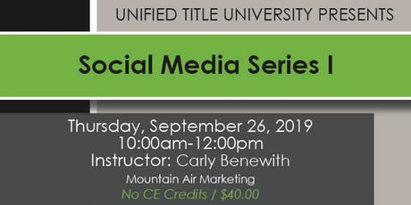 Colorado Springs - Social Media Series Part One tickets