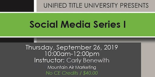 Colorado Springs - Social Media Series Part One