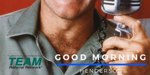 Good Morning Henderson Referral Group