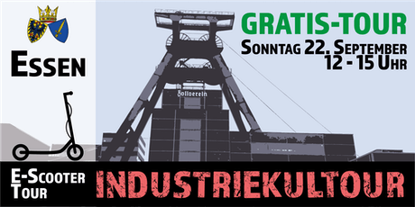 "Gratis E-Scooter Tour: ""Industriekultour"" Essen Tickets"