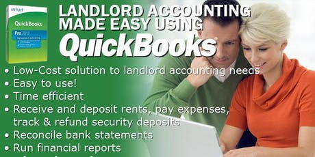 Landlord Accounting Made Easy Using Quickbooks (OAK) tickets
