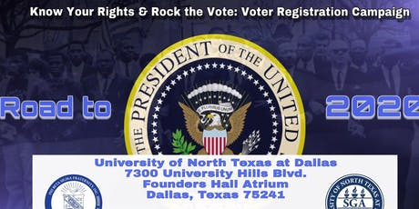 "Know Your Rights & Rock the Vote: Voter Registration Campaign - The Power of the Vote ""We Shall Overcome"" tickets"