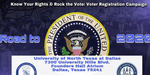"Know Your Rights & Rock the Vote: Voter Registration Campaign - The Power of the Vote ""We Shall Overcome"""