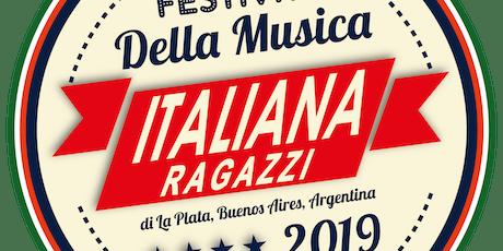 Semifinal 1er Festival de la Música Italiana de La Plata - Edición Ragazzi (Niños)  entradas