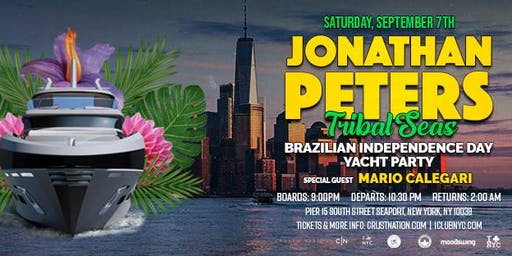 Jonathan Peters Presents Tribal Seas Boat Party NYC