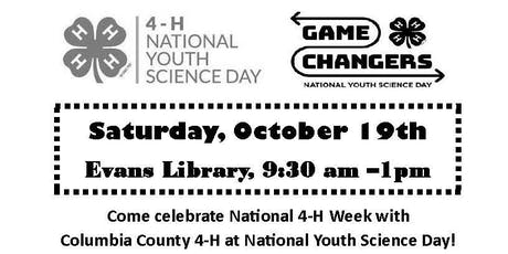 4-H Youth Science Day - Game Changers ($7/Grades 5-8) tickets