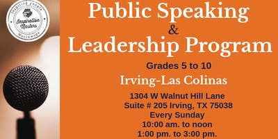 Public Speaking and Leadership Classes in Irving - Las Colinas , Coppell