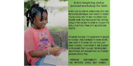 Erin's Vision Journal Workshop for kids  tickets