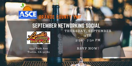 ASCE OC YMF - September 2019 Networking Social tickets