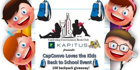 CapConvo Loves the Kids 100 Backpack Giveaway tickets