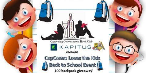 CapConvo Loves the Kids 100 Backpack Giveaway