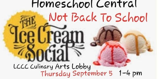 Homeschool Central Not Back to School Ice Cream Social