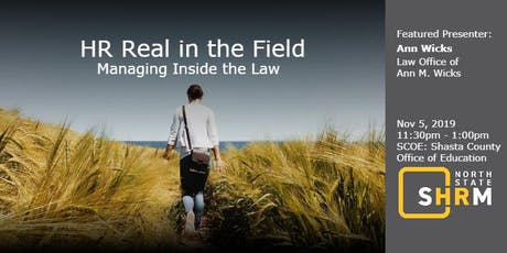 HR Real in the Field:  Managing Inside the Law tickets