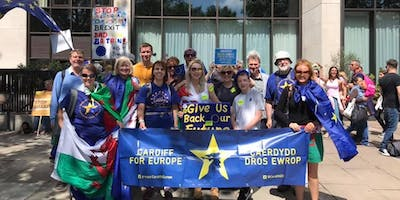 Cardiff Buses to Let Us Be Heard Anti-Brexit Rally