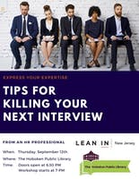 Tips for Killing Your Next Interview