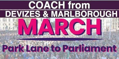 COACH from DEVIZES & MARLBOROUGH - People's Vote 'Let us be heard' march bilhetes