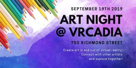 Art Night @ VRCadia tickets