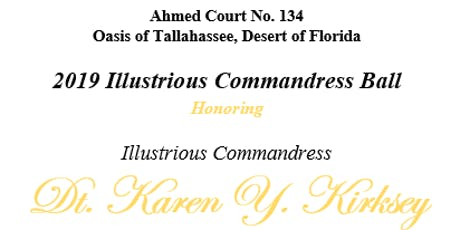 Ahmed Court #134 - 2019 Illustrious Commandress Ball tickets