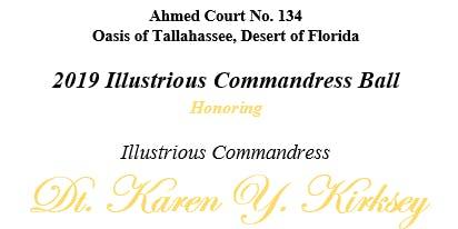 Ahmed Court #134 - 2019 Illustrious Commandress Ball