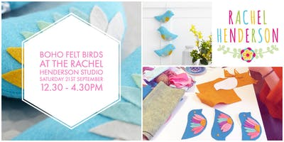 Boho Felt Birds Decoration!