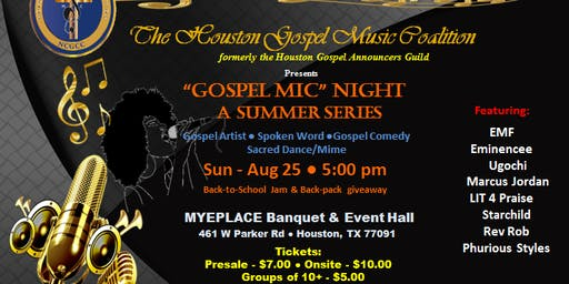 """Gospel Mic"" Nights - A Summer Series"