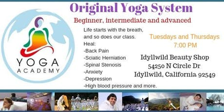 Yoga Academy USA Original Yoga System First class Free tickets