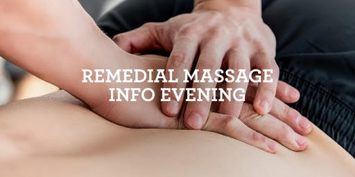 Remedial Massage - Course Information Evening - Melbourne - 22 August 2019