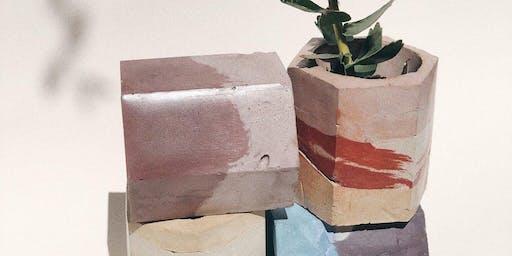 Concrete Workshop with Krizia Flores of Concrete Geometric