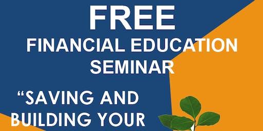 AUG 17 FREE FINANCIAL EDUCATION SEMINAR