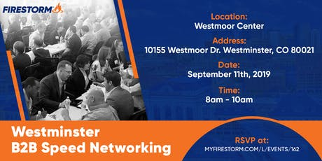 Broomfield Business to Business Speed Networking tickets