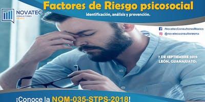 Curso-Taller: Factores de Riesgos Psicosociales identificación, análisis y prevención. NOM 035 STPS 2018.