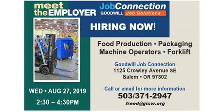 Hiring Event - 8/27/19 - Salem tickets