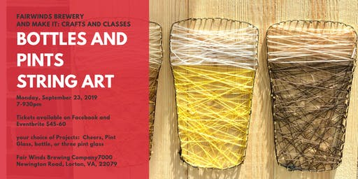 Fair Winds Brewery: Bottles and Pints String Art