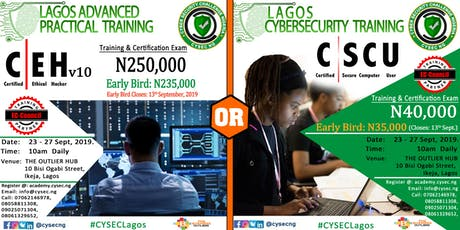 Lagos Certified Ethical Hacker CEHv10 & Secure Computer User CSCU Training tickets