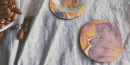 Marbled Leather Coasters with Sadye Harvey of Temerity